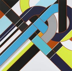 Hemisphere [Knots] - Sarah Morris Painting - 2010