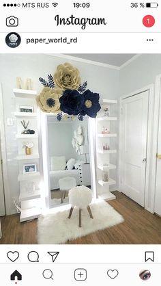 Love full length mirror Bedroom Inspo, Teen Bedroom, Long Bedroom Ideas, Home Bedroom, Spare Bedroom Ideas, Bedrooms, Vanity Room, Teen Vanity, Tumblr Zimmer