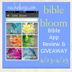 Bible App Review & Giveaway: Bible Bloom- a beautiful prayer and devotional app - check it out!