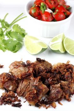 I made these last night and they were the best carnitas I've ever made! I used coconut oil to sear the chunks when they were done cooking. The PERFECT CARNITAS! -K paleo crockpot carnitas Pork Recipes, Paleo Recipes, Mexican Food Recipes, Great Recipes, Cooking Recipes, Favorite Recipes, Yummy Recipes, Mexican Dinners, Mexican Restaurants