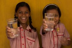 Two girls at Murlidhar School in Sri Lanka (who now are drinking clean water!).
