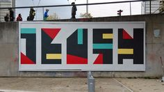 Exhibitions, projects and experiments with geometric abstract art in public space by visual artist Eltono. Gcse Exams, Design Graphique, Mural Art, Graffiti, Street Art, Concept, Shapes, Frame, Gcse 2017