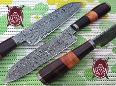 KSK Handmade Custom Beautiful Damascus/ Blade Pattern  Rain