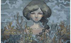 Art Nouveau y Manga japonés en la pintura de Audrey Kawasaki image 4