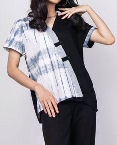 Shibori Tie Dye, T Shirts For Women, Tops, Fashion, Moda, Fashion Styles, Fashion Illustrations