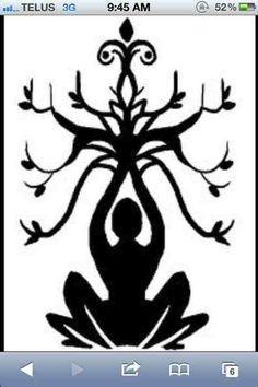 Lotus Flower + Meditating Buddhist + Tree Of Life.