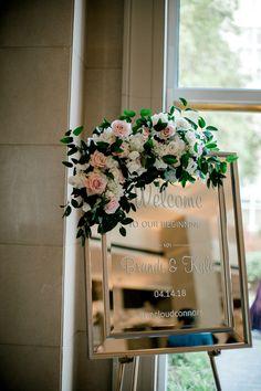 Unique Wedding Welcome Sign Wedding Welcome Signs, Wedding Signs, Wedding Ideas, Wedding Receptions, Reception Decorations, Gold Wedding, Floral Wedding, Linen Rentals, Dallas Wedding