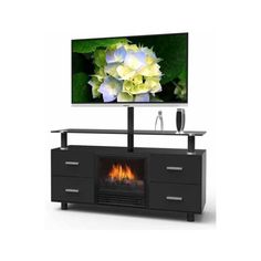 modern electric fireplace tv stand - Google Search