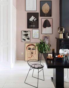 pink walls and art gallery wall via @theobert_pot on instagram. / sfgirlbybay