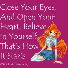 Bloom from Winx Club Les Winx, Bloom Winx Club, Theme Song, Childhood, Dreams, Merida, Diaries, Fairytale, Disney