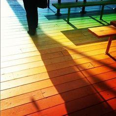 Rainbow patio