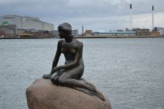 "The famous ""Little Mermaid"" in Coppenhagen, Denmark"