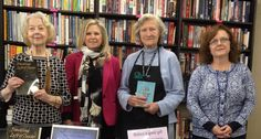 I'm with Poland library bookstore volunteers at the Friends of the Public Library of Youngstown and Mahoning County fundraiser event on 4.25.15. From left, Beverly Chorey, me, Claire von Blomberg, Rosanna O'Neil