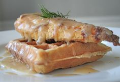 Crunchy chicken over a crispy Belgian waffle drizzled with sweet gravy is the ultimate sweet-and-savory combo! If you've never had Chicken & Waffles, drop what you are doing right now and go ma...