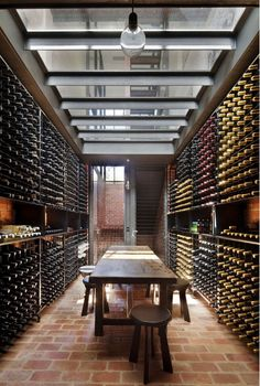 Amazing Bakery Warehouse Conversion in Melbourne by Jackson Clements Burrows Bakery Warehouse Conversion in Melbourne by Jackson Clements Burrows – HomeDSGN, a daily source for inspiration and fresh ideas on interior design and home decoration. Home Wine Cellars, Wine Cellar Design, Warehouse Conversion, Wine Display, In Vino Veritas, Wine Storage, Storage Room, Caves, Future House