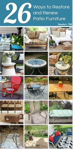 There's no need to buy a new patio set when you can restore and renew an old set instead.