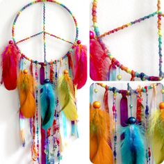 Peaceful Pow Wow Native Woven Dreamcatcher. $79.00, via Etsy.