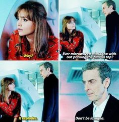"Words of wisdom from the 12th Doctor. ""Don't be lasagna."" :D Into the Dalek"