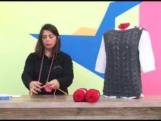 Suéter em Tricô com Cisne Platinum / Cristina Amaduro. - YouTube