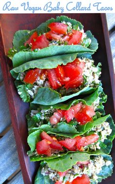 Meatless Monday with Raw #Vegan Baby Collard Tacos http://www.miratelinc.com/blog/meatless-monday-with-raw-vegan-baby-collard-tacos/