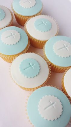 Plan a memorable christening party with these unique Baptism Party Ideas. Get fun ideas for baptism cakes and desserts, decorations, favors, and more. Baptism Desserts, Baptism Cupcakes, Baptism Cookies, Baby Christening Cakes, Baptism Party Decorations, Confirmation Cakes, Cupcakes For Boys, Communion Cakes, Cupcake Cakes