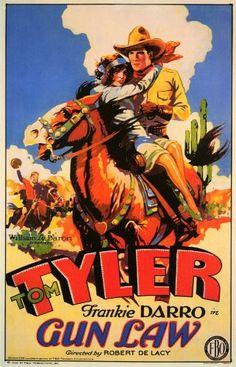 Gun Law (1929) Stars: Tom Tyler, Frankie Darro, Barney Furey,  Ethlyne Clair ~  Director: Robert De Lacey