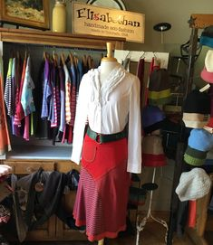 The Skirt is the longest in our line of skirts at long. Fabulous swooping architecture and a lettuce-edge hem make this sophisticated skirt playful. Elastic waist and A-line silho… Paonia Colorado, Winter Skirt, A Line Skirts, Sustainable Fashion, Red Roses, Upcycle, Fabric, How To Make, Handmade