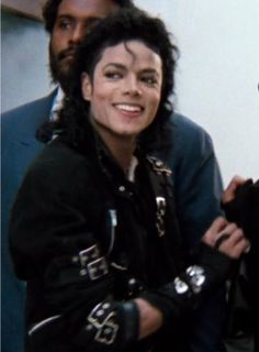 Michael Jackson flashing his smile
