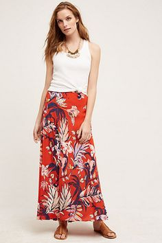 Paso Robles Silk Skirt #anthropologie