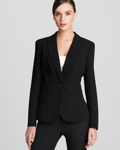 Jones New York Collection One Button Blazer | Bloomingdale's