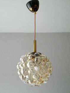 Original Glass Bubble Pendant lamp from the 60s. by RetroRaum