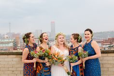 A bright and bold wedding filled with proudly South African touches like proteas, African print fabrics, strelizias, and the Joburg skyline! Bridesmaid Dresses, Wedding Dresses, Bridesmaids, Creative Wedding Inspiration, South African Weddings, Luxury Dress, Wedding Styles, Real Weddings, Fashion