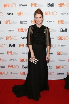 Julianne Moore in Valentino Fall/Winter 2015-16 at the premiere of 'Maggie's Plan' during the 2015 Toronto International Film Festival on September 12th.