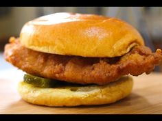 Chick-Fil-A Chicken Sandwich | Nicko's Kitchen - YouTube