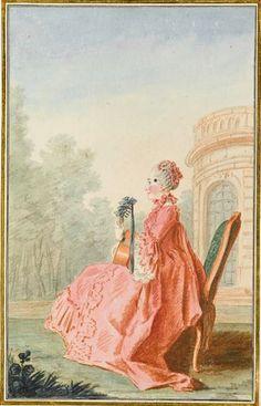 1760 Vicomtesse de Rochechouart by Louis Carrogis (Musée Condé - Chantilly France) | Grand Ladies | gogm