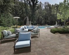 Chateau Modern - Made in Italy, the Castlestone porcelain tile series is comprised of five natural shades. #poolsurround #patiotile http://www.pentalonline.com/lines/porcelain/castlestone.php