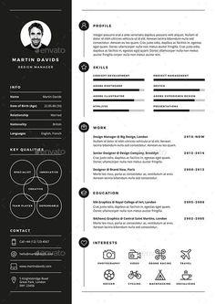 CV / Resume CV / Resume is a clean, elegant and professional resume template. - Career MindMap - CV/Resume CV/Resume is a clean elegant and professional resume template desig CV / Resume CV Creative Cv Template, Resume Design Template, Resume Templates, Free Cv Template, Modern Cv Template, One Page Resume Template, List Template, Cv Simple, Simple Resume