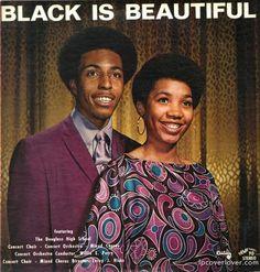 Soul Album Art  - Black is Beautiful font text graphic design