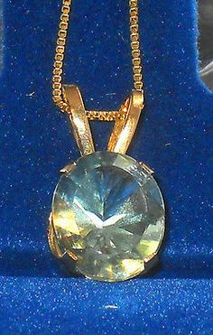 3.50ctw Green Amethyst Prasiolite Solitare Pendant 14k yellow gold http://stores.ebay.com/JEWELRY-AND-GIFTS-BY-ALICE-AND-ANN