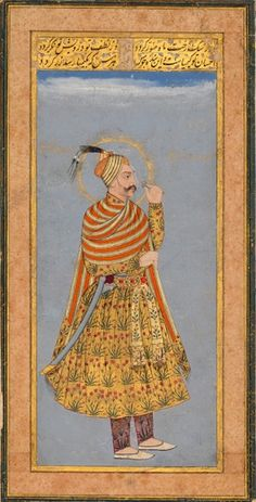 Sultan Abdullah Qutb Shah of Golconda. India, circa Opaque pigments with gold on paper Mughal Miniature Paintings, Mughal Paintings, Islamic Paintings, Indian Art Paintings, Indian Traditional Paintings, India Art, India India, Mughal Empire, Oriental