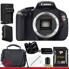 Canon EOS Rebel T3i 18 MP CMOS Digital SLR Camera (Body Only) 16GB Package by Canon. $599.99. Kit Includes! 1- Canon EOS Rebel T3i 18 MP CMOS Digital SLR Camera and DIGIC 4 Imaging Body Only w/ All Supplied Accessories 1- 16GB SDHC Memory Card (Don't Miss a Memory!) 1- USB SDHC Memory Card Reader (Download Images Quicker!) 1- Lithium Ion High Capacity Battery (Great for Vacation!) 1- Ac/Dc Rapid Charger  1- Deluxe Case w/Strap (Protect Your Camera!) 1- Memory Card Wa...