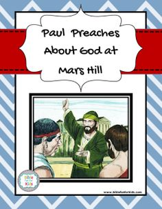 Paul preaches about God the creator at Mars Hill lesson, ideas, printables & more. #Biblefun