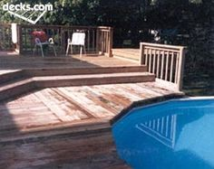 Above ground pool deck ~~ great transition!