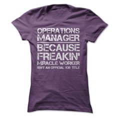 Operations Manager Job Title T-Shirts, Hoodies, Sweaters