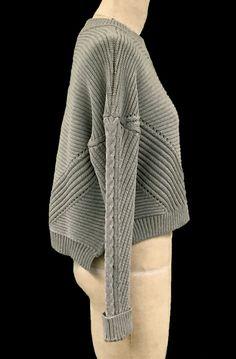Julianne Abejar, Side View knitGrandeur: FIT & Zegna Baruffa 2/30s Cashwool Collaboration Two: Term Garment Project