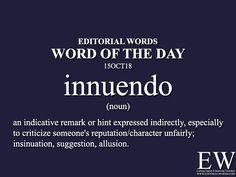 Word of the Day-15OCT18 Interesting English Words, Unusual Words, Rare Words, English Vocabulary Words, English Phrases, Learn English Words, English Writing, English Grammar, English Language