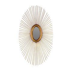 Sol Oval Mirror  Both decoration and art piece, this sunburst mirror adds personality and visual interest to any space. Use it to anchor a room, lead people down a hallway, or simply to provide contrast and reflection to a space that needs a lift.