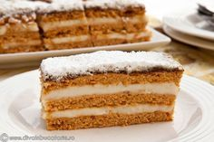 Romanian Desserts, Romanian Food, No Cook Desserts, Delicious Desserts, Cookie Recipes, Dessert Recipes, Russian Cakes, Square Cakes, Food Obsession
