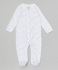 Love this White Monster Organic Footie by Zoonana by Sage Creek Organics on #zulily! #zulilyfinds