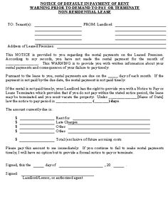residential intent to lease letter sample - Google Search | legal ...